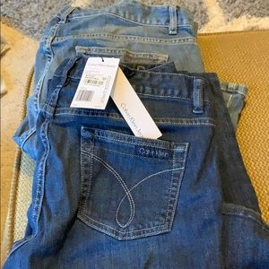 2pairs Calvin Kline jeans brand new 1 with tags